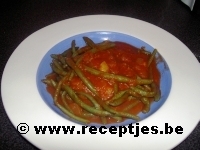 Boontjes in Tomatensaus