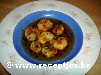 Scampi in Kruidenboter